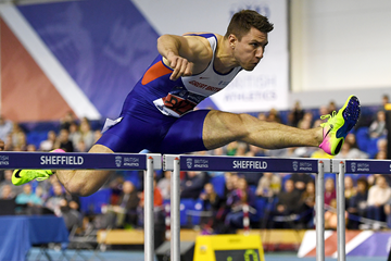 Andrew Pozzi in the 60m hurdles at the British Indoor Championships (Getty Images)