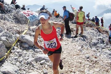 Mateja Kosovelj on her way to victory in Kamnik (Tomo Sarf)