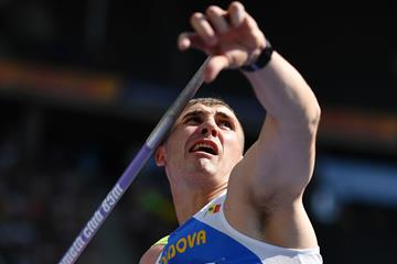 Moldovan javelin thrower Andrian Mardare in action (AFP / Getty Images)