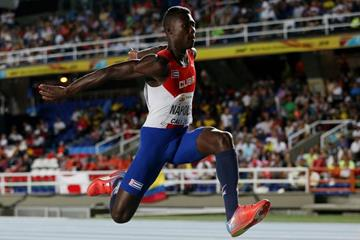 Christian Atanay Napoles at the IAAF World Youth Championships, Cali 2015 (Getty Images)