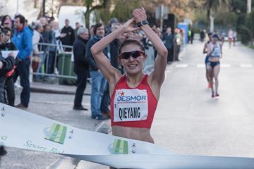 Qieyang Shenjie winning in Rio Maior (Antonio Fernandes)