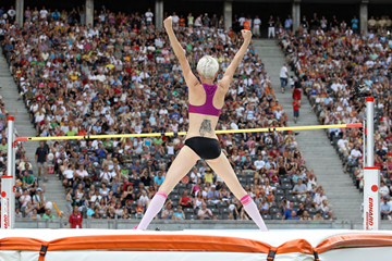 Ariane Friedrich competes at the ISTAF in Berlin ()