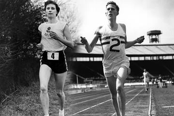 Diane Leather and Roger Bannister (Hulton / Getty Images)