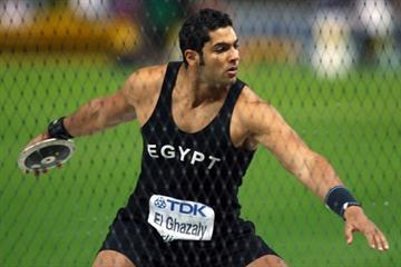 Omar El Ghazaly (EGY) throwing in Berlin (Getty Images)