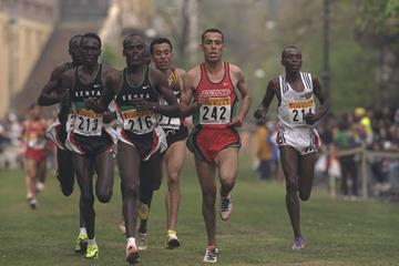Salah Hissou (242) at the 1997 World Cross Country Championships (Getty Images)