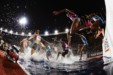 The women's 3000m steeplechase at the IAAF Diamond League meeting in Stockholm (AFP / Getty Images)