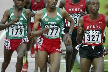 Tariku Bekele of Ethiopia in action in the 3000m final (Getty Images)