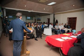 IAAF President Coe addressing the 45th CARIFTA Congress (CARIFTA)