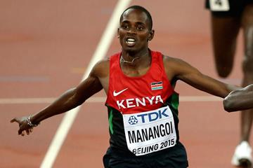 Elijah Manangoi racing to silver at the IAAF World Championships in Beijing (Getty Images)