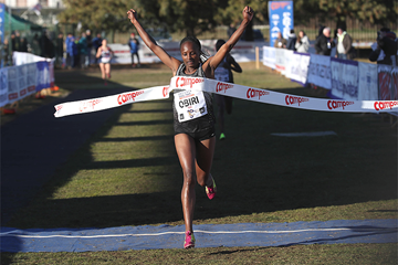 Hellen Obiri wins the Campaccio women's race (Giancarlo Colombo)