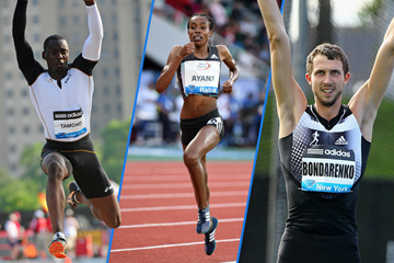 Teddy Tamgho, Almaz Ayana and Bogdan Bondarenko in IAAF Diamond League action ()