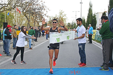 Eider Arevalo wins the 20km at the IAAF Race Walking Challenge meeting in Rio Maior (Organisers)