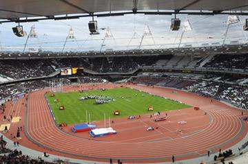 London's Olympic Stadium during the athletics test event (Getty Images)
