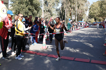 Bernard Wambua wins the Baghdad International Half Marathon (AFP / Getty Images)