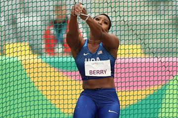 Gwen Berry spins to the Pan-American Games title in Lima (Getty Images)