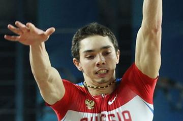 Aleksander Menkov of Russia competes in the Men's Long Jump qualification during day one - WIC Istanbul  (Getty Images)