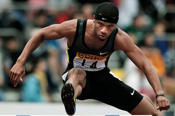 USA's Johnny Dutch in the 400m Hurdles (Getty Images)