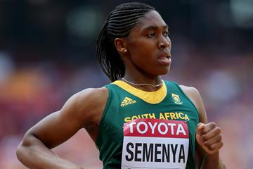Caster Semenya in the 800m at the IAAF World Championships (Getty Images)