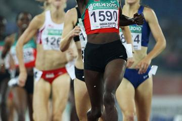 2008 Olympic champion Nancy Langat adds the Commonwealth title to her collection in Delhi (Getty Images)