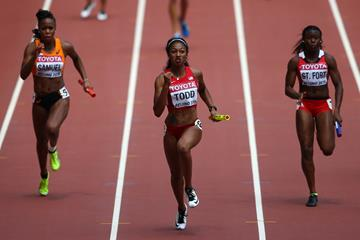 Jasmine Todd anchors the USA in the 4x100m at the IAAF World Championships, Beijing 2015 (Getty Images)