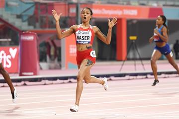48.14! Salwa Eid Naser at the IAAF World Championships Doha 2019 (Getty Images)