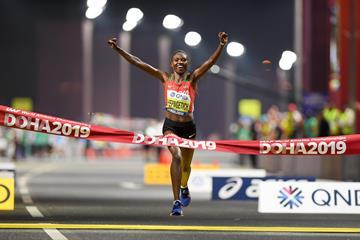 2019 world marathon champion Ruth Chepngetich (Getty Images)