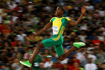 Luvo Manyonga in the long jump at the IAAF World Championships (Getty Images)