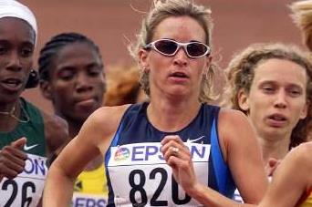 2001 IAAF World Championships 1500m Heats - Suzy Favor-Hamilton (© Allsport)