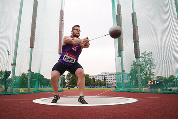 Pawel Fajdek on his way to winning the hammer (Organisers / sport-pics.cz)