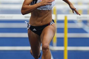 Jessica Ennis of Great Britain competes in the women's Heptathlon (Getty Images)
