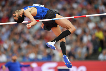 High jump bronze medallist Majd Eddin Ghazal at the IAAF World Championships London 2017 (AFP / Getty Images)