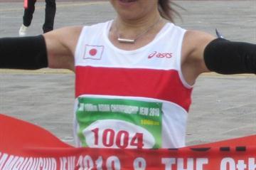 Mai Fujisawa, 2010 IAU Asian 100Km champion (Nadeem Khan)