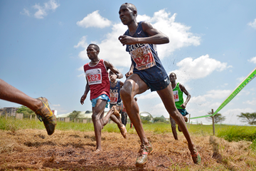 Geoffrey Kamworor in action at the IAAF Permit/Athletics Kenya Cross Country meeting in Nairobi (AFP / Getty Images)