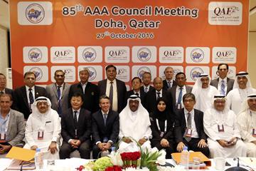 Attendees of the October 2016 AAA Council meeting in Doha (organisers)