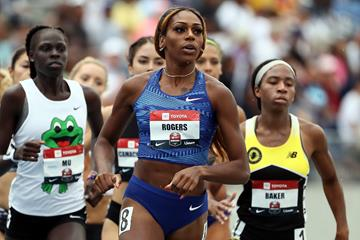 Raevyn Rogers competes at the 2019 USATF Outdoor Championships (Getty Images)
