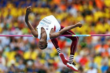 Mutaz Essa Barshim in the high jump at the IAAF World Championships, Moscow 2013 (Getty Images)
