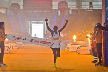 Samson Barmao wins the Lodz Marathon (Sportografia.pl / organisers)