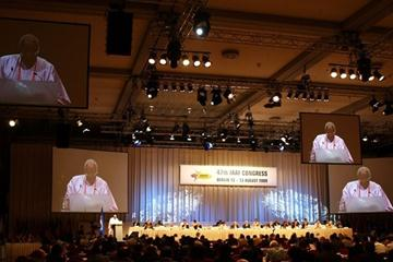 IAAF President Lamine Diack at the IAAF Congress in Berlin (Getty Images)