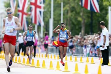 Eider Arevalo wins the 20km race walk at the IAAF World Championships London 2017 (Getty Images)