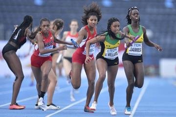 The women's 4x400m at the IAAF World U20 Championships Bydgoszcz 2016 (Getty Images)