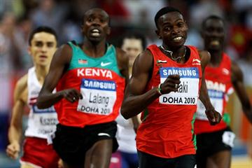 Abubaker Kaki of Sudan retain's 800m title (Getty Images)