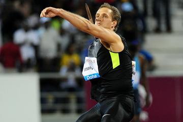 Viteszlav Vesely, winner of the Javelin at the 2013 Doha Diamond League (Errol Anderson)