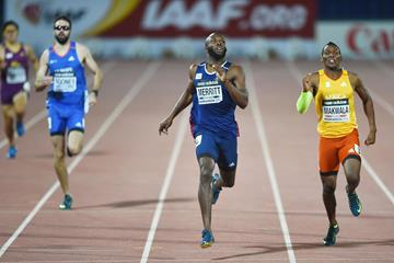 LaShawn Merritt wins the 400m at the IAAF Continental Cup, Marrakech 2014 (Getty Images)