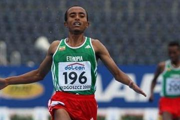 Abreham Cherkos of Ethiopia wins the Final of the Men's 5000m (Getty Images)