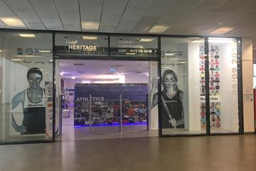MAIN ENTRANCE to IAAF Heritage World / Continental Cup - 1977 to 2018 - Exhibition at the Forum Nova Karolina Shopping Centre, Ostrava (IAAF)