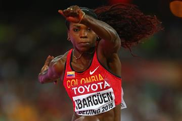 Caterine Ibarguen in the triple jump at the IAAF World Championships, Beijing 2015 (Getty Images)