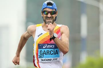 Jesus Angel Garcia in the men's 50km race walk at the IAAF World Race Walking Team Championships Taicang 2018 (Getty Images)