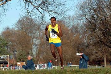 Mustafa Mohamed (SWE) running at the Nordic Cross Country championships in Fredrikstad, Norway (Hasse Sjögren)