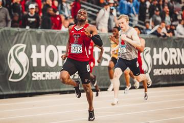 Nigerian sprinter Divine Oduduru (Texas Tech University )
