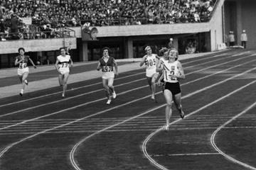 Betty Cuthbert winning the 1964 Olympic 400m title (Getty Images)